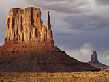 Summer Rain Clouds, Sunlit West Mitten and Big Indian Rock Formation Photographic Print by Derek Von Briesen