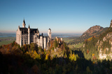 Neuschwanstein Castle in Autumn Photographic Print by Alex Saberi