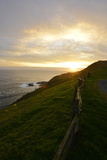 Sunset Over the Ocean at Point Reyes National Seashore Photographic Print by Raul Touzon