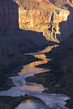 The Colorado River and Canyon Cliffs Reflect Sunlight at Nankoweap Photographic Print by Derek Von Briesen
