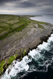 Atlantic Waves Crash Against Inishmaan's Rock Cliffs Photographic Print by Jim Richardson