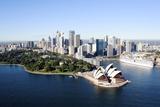 An Aerial View of Sydney with the Opera House Fotografie-Druck von Jill Schneider