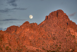 A  Mountain Range at Sunset in Tucson, Arizona Photographic Print by John Burcham