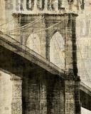 Vintage NY Brooklyn Bridge Kunstdrucke von Michael Mullan