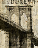 Vintage NY Brooklyn Bridge Posters by Michael Mullan