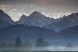Mountains Around Schwangau in the Autumn Mist Photographic Print by Alex Saberi