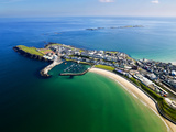 Aerial View Over Portrush, Northern Ireland Fotografiskt tryck av Chris Hill