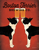 Boston Terrier Brewing Co. Affiches par Ryan Fowler