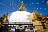 Prayer Flags Above Swayambhunath Stupa Photographic Print by Ben Horton