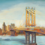 Sunny Manhattan Bridge Posters par Marilyn Hageman