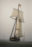 The Pride of Baltimore in a Rain Squall in a Schooner Race Photographic Print by Richard Olsenius