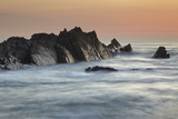 A Dusk View of Atlantic Coast Rocks, at Hartland Quay, Devon, England Photographic Print by Nigel Hicks