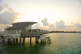 Overwater Bungalows at the Viceroy Resort and Spa on Vagaru Island Reproduction photographique par Jad Davenport