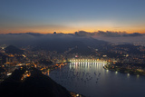 Wide Angle View of Rio De Janeiro at Sunset with Guanabara Bay Photographic Print by Alex Saberi