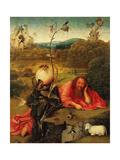 Hieronymus Bosch - Saint John the Baptist In the Wilderness, Ca. 1489 Digitálně vytištěná reprodukce