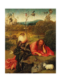 Saint John the Baptist In the Wilderness, Ca. 1489 Gicléetryck av Hieronymus Bosch