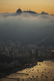 Christ the Redeemer Statue Above Rio De Janeiro at Sunset Photographic Print by Alex Saberi