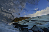 Solheimajokull Glacier Past a Sheet of Ice Photographic Print by Raul Touzon