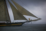 The Pride of Baltimore in a Rain Squall in a Schooner Race Photographie par Richard Olsenius