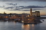 A Dusk View of the Fishing Harbor of Trani Photographic Print by Nigel Hicks