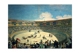 Bullfight At the Old Madrid Plaza, 1802, Spanish School Giclee Print by Antonio Carnicero