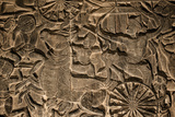 A Close Up of Sandstone Bas Relief in Angkor Wat Photographic Print by Jim Ricardson
