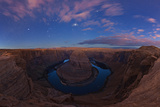 Sirius, Orion, and Taurus's Stars Over Horseshoe Bend in Dawn's Light Photographic Print by Babak Tafreshi