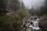 Cascade Falls in Yosemite National Park in Winter Photographic Print by Raul Touzon
