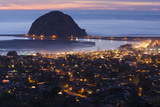 Morro Bay and Morro Rock at Dusk From Black Hills Photographic Print by Rich Reid