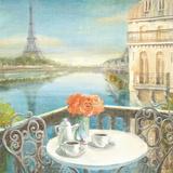 Morning on the Seine Crop Affiches par Danhui Nai