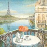 Morning on the Seine Crop Poster by Danhui Nai