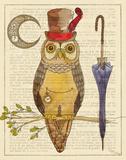 Steampunk Owl I Art par Elyse DeNeige
