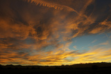 A Dramatic Autumn Sunset and Colorful Clouds Photographic Print by Bob Smith