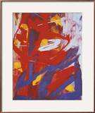 Abstract Painting, c. 1982 (Indigo, Red, White) Framed Giclee Print by Andy Warhol