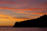 A Fiery Sky at Sunset Above Sunshine Coast and the Pacific Ocean Photographic Print by Matthias Breiter