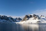 Ice Covered Mountains and a Glacier Rim Magdalenefjorden Photographic Print by Sergio Pitamitz