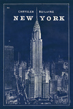 Blueprint Map New York Chrysler Building Posters par Sue Schlabach