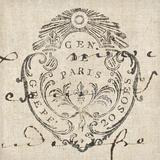 Letter Crest I Print by Wild Apple Portfolio