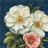 Floral Damask III on Indigo Poster by Lisa Audit