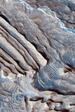Periodic Layering in the Becquerel Crater on Mars Photographic Print by  NASA