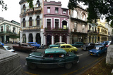 Cars Parked in the Barrio Colon Photographic Print by Raul Touzon