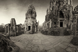Ornate Stone Carvings on the 12th Century Pyramid Temple, Bayon Photographic Print by Jim Richardson