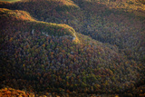 Aerial View of Old Mountains Covered in Forests of Autumn Hues Photographic Print by Stephen Alvarez