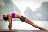 Upward Plank Pose Or Purvottanasana Fotografie-Druck von Cory Richards