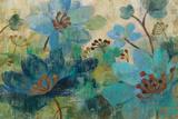 Peacock Garden Schilderij van Silvia Vassileva