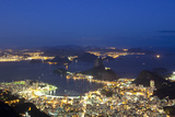 Rio's Skyline at Night From Sugar Loaf Mountain Photographie par Alex Saberi
