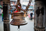 A Bell Adorns a Hindu Shrine Photographic Print by Ben Horton