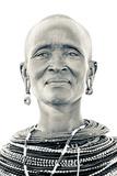 A Samburu Woman Poses for Her Portrait Fotografisk tryk af Robin Moore