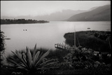 Boats in a Mountain Lake in Early Morning Photographic Print by Stephen Alvarez