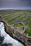 Atlantic Waves Crash on the Cliffs Beneath the Ancient Dun Aengus Photographic Print by Jim Richardson